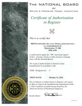 Certificate of Authorization to Register NB mark