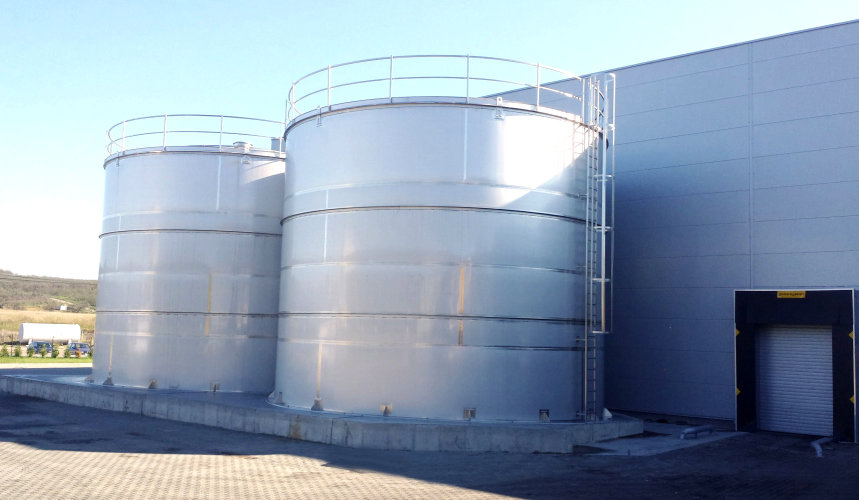 Flat Bottom Tanks Capacity Of Up To 1 Million Litres